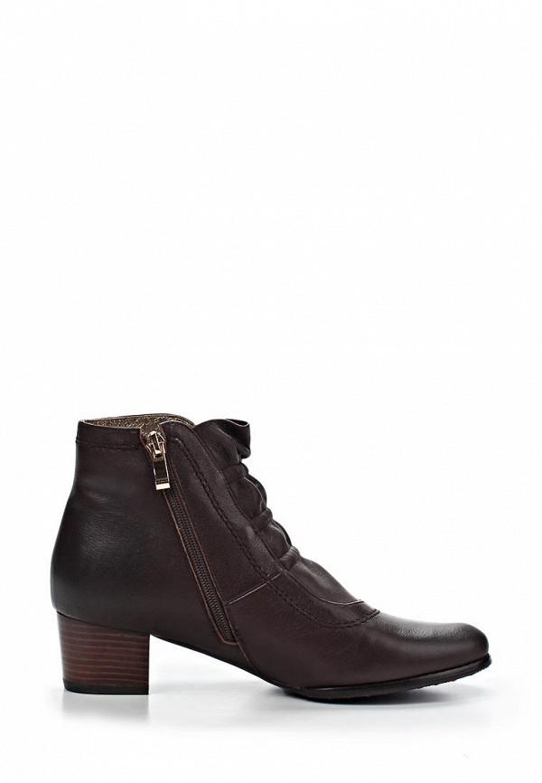 фото Ботильоны на низком толстом каблуке KARELLA KA008AWBET08, коричневые