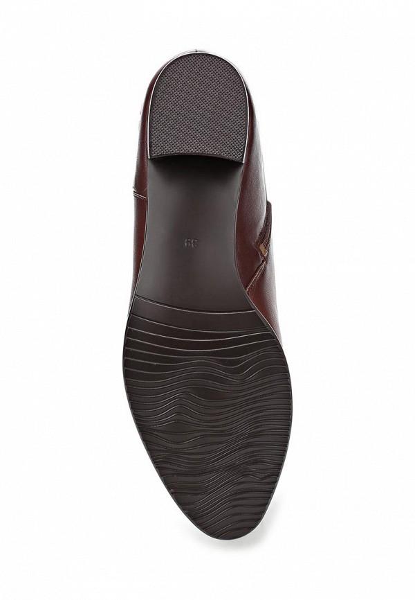 фото Сапоги на низком каблуке KARELLA KA008AWCNH97, бордовые (кожа)