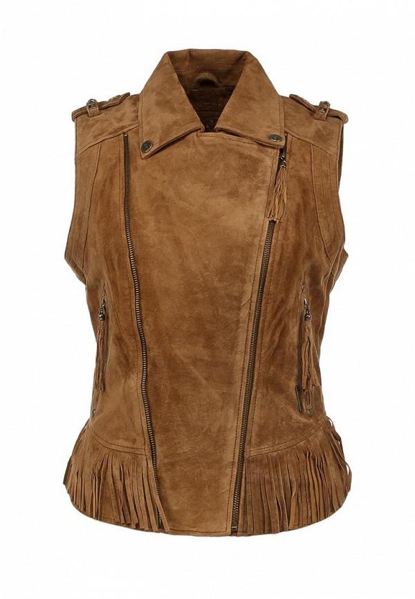 Жилет кожаный Жилет кожаный Kaporal Kaporal MANASH13W6 Жилет кожаный Kaporal для женщин.  Цвет: бежевый.
