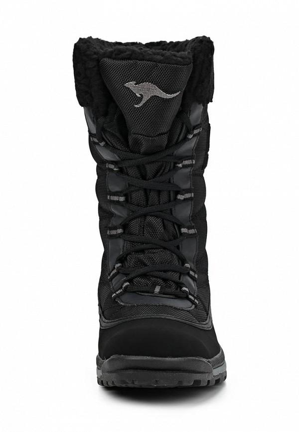 фото Женские полусапоги на шнуровке KangaROOS KA308AWCMX33, черные