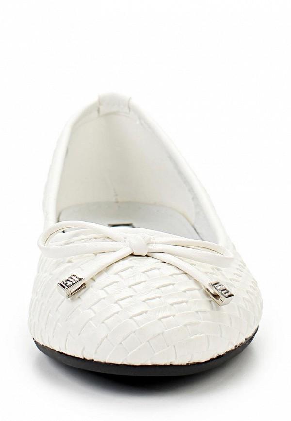 фото Балетки женские Keddo KE037AWAJM04, белые кожаные