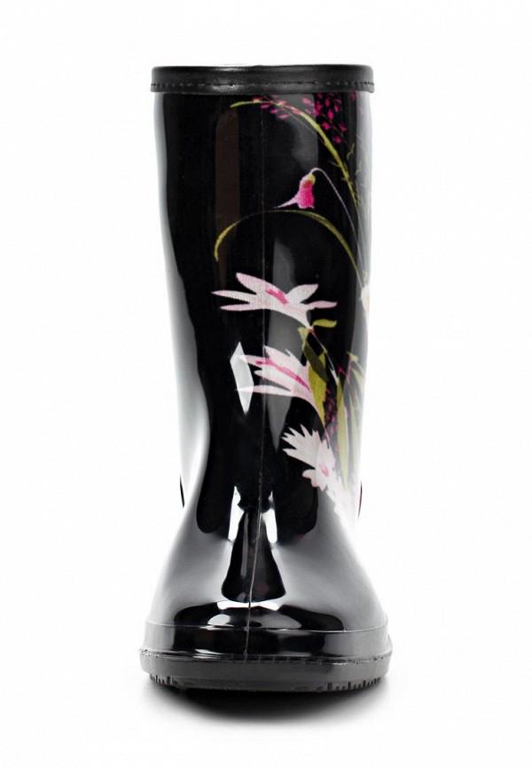 фото Женские резиновые полусапоги Keddo KE037AWAJN31, черные с цветами