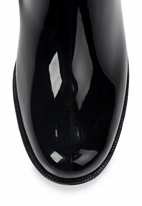 фото Женские резиновые полусапожки Keddo KE037AWAJN83, черные/каблук