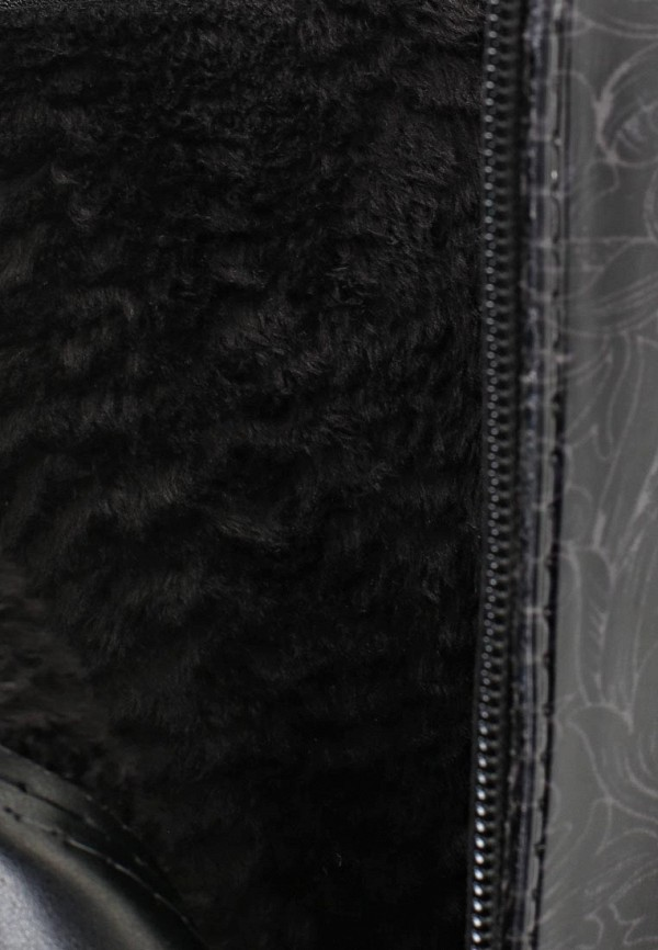 фото Женские резиновые полусапоги Keddo KE037AWAJN93, черные/каблук