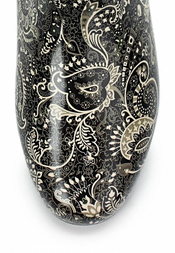 фото Женские резиновые сапожки Keddo KE037AWAJO14, черно-белые/мультицвет