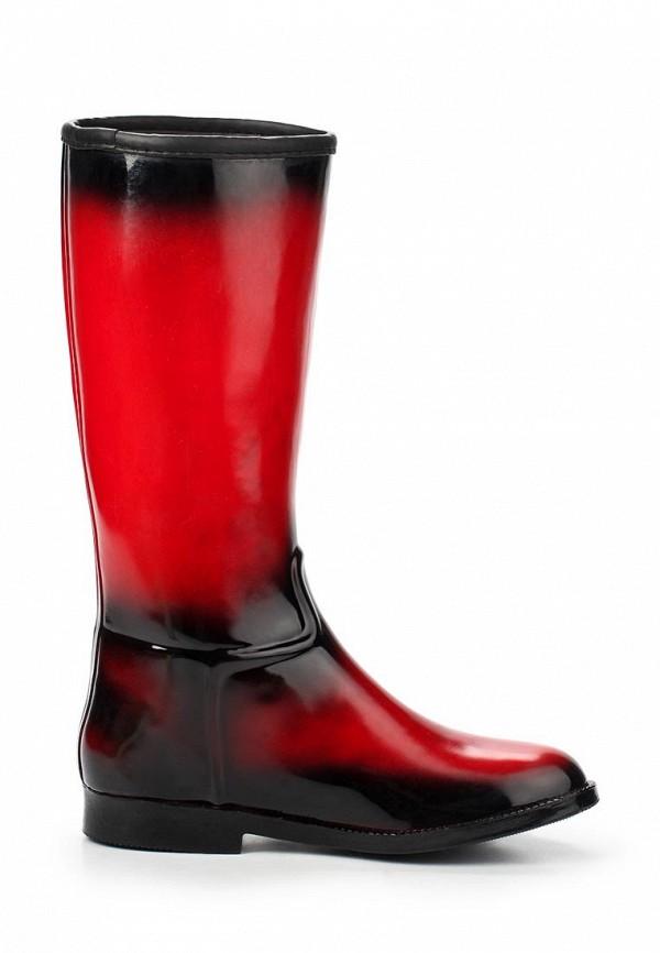 фото Женские резиновые сапоги Keddo KE037AWAJO45, черно-красные