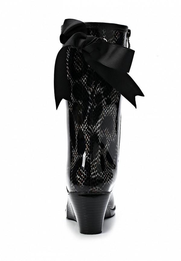 фото Женские резиновые сапоги Keddo KE037AWAJO51, черные с узором