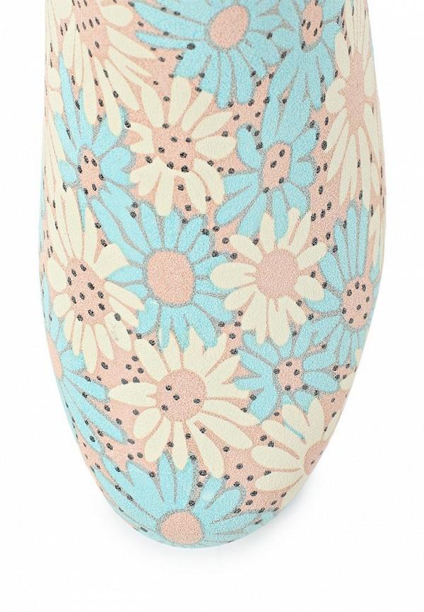 фото Женские резиновые полусапоги Keddo KE037AWAJO79, голубые/цветы