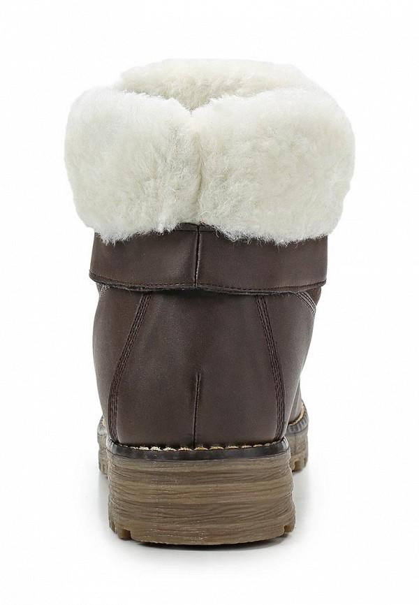 фото Ботинки женские на шнурках Keddo KE037AWCGU31, коричневые