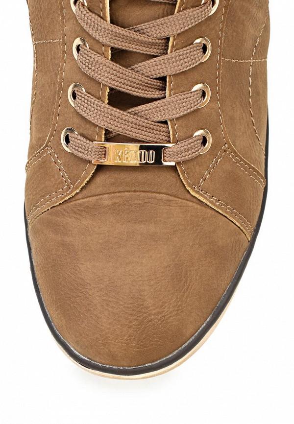 фото Ботинки женские на шнурках Keddo KE037AWCGU65, коричневые