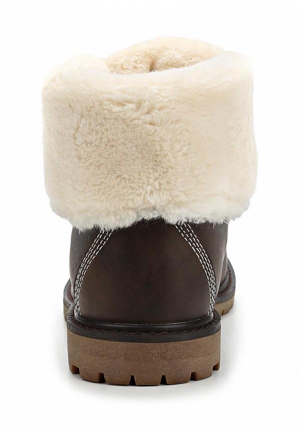 фото Ботинки женские Keddo KE037AWCGV10, коричневые с отворотом