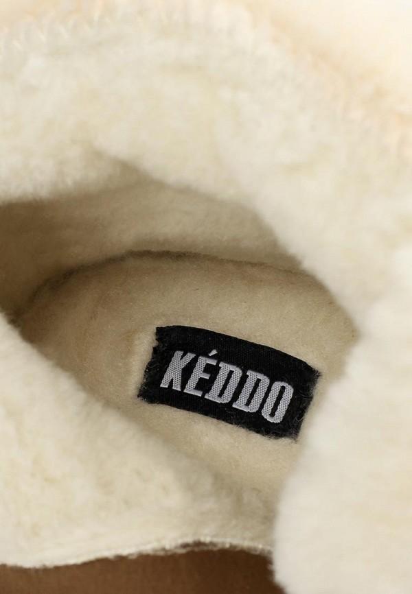 фото Женские полусапоги Keddo KE037AWCGV15, коричневые с опушкой