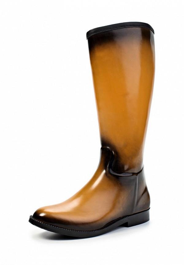 фото Женские резиновые сапоги Keddo KE037AWJK419, коричневые
