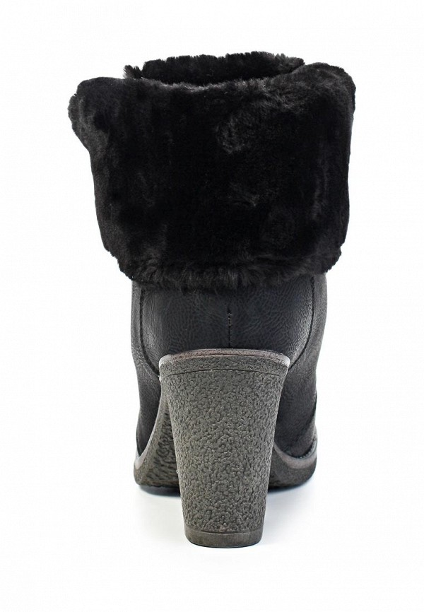 фото Ботильоны на толстом каблуке Keddo KE037AWJK553, черные/шнурки
