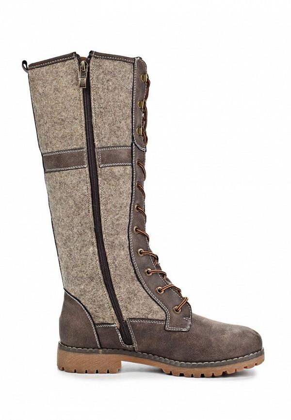 фото Сапоги женские со шнуровкой Keddo KE037AWKT807, коричневые