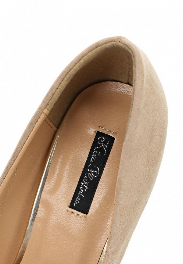 фото Туфли на каблуке Kira Plastinina KI001AWABU87, бежевые с золотым