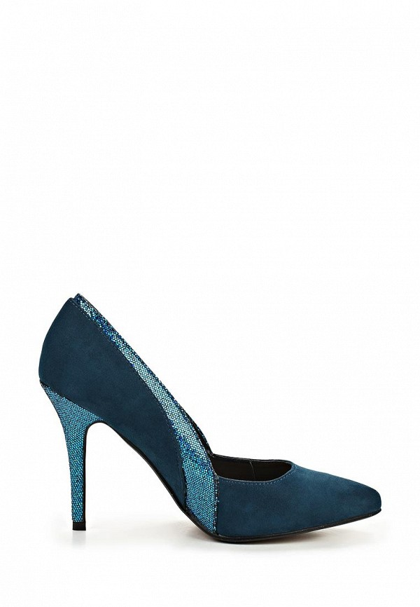 фото Туфли на каблуке Kira Plastinina KI001AWBNK13, зеленые замшевые