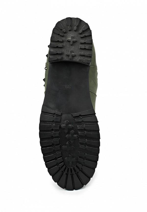 фото Женские полусапожки на каблуке Kira Plastinina KI001AWCAP14, зеленые