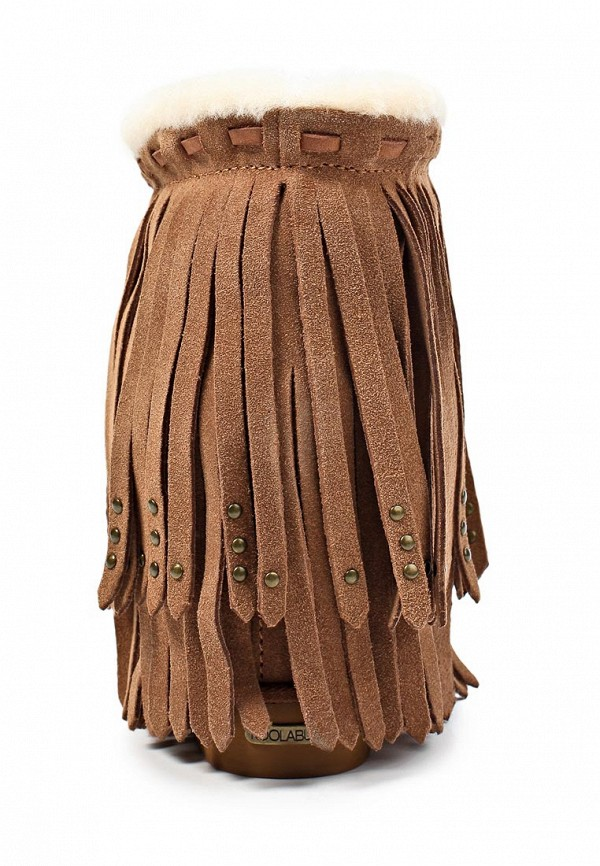 фото Ботильоны женские Koolaburra KO672AWKS485, коричневые с бахромой