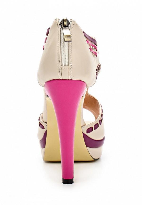 фото Босоножки на каблуке Lamania LA002AWAAB96, бежевые