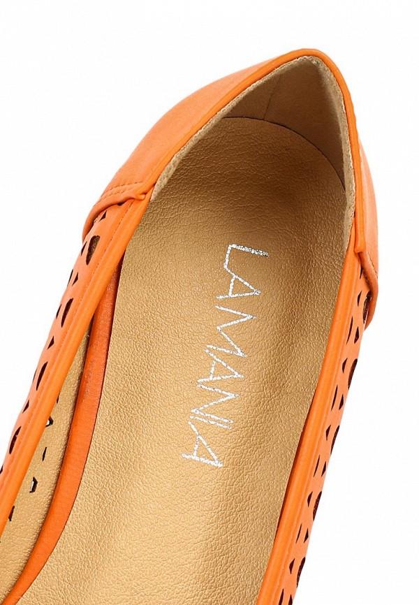 фото Балетки женские Lamania LA002AWAAC18, оранжевые кожаные