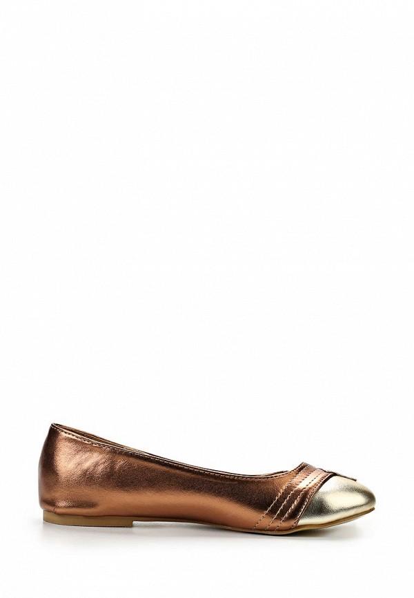 фото Балетки женские Lamania, бронзовые/золотые (иск. кожа)