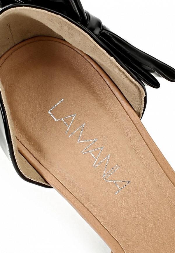 фото Туфли на высоком каблуке Lamania LA002AWAAD62, черно-бежевые открытые