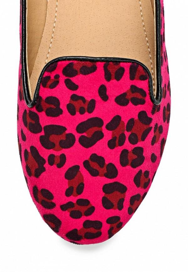 фото Лоферы женские Lamania LA002AWAAD75, розовые под леопарда