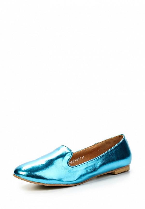 фото Лоферы женские Lamania LA002AWAAF58, блестящие голубые