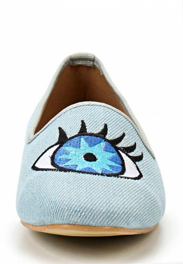 фото Лоферы женские Lamania LA002AWAAF60, голубые с глазами