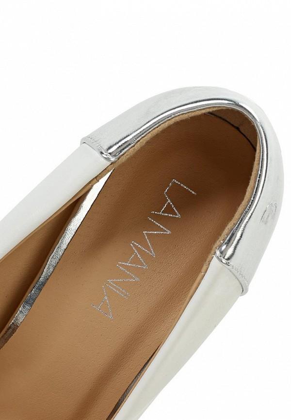 фото Туфли на высоком каблуке-шпильке Lamania LA002AWAAF71, белые (кожа)