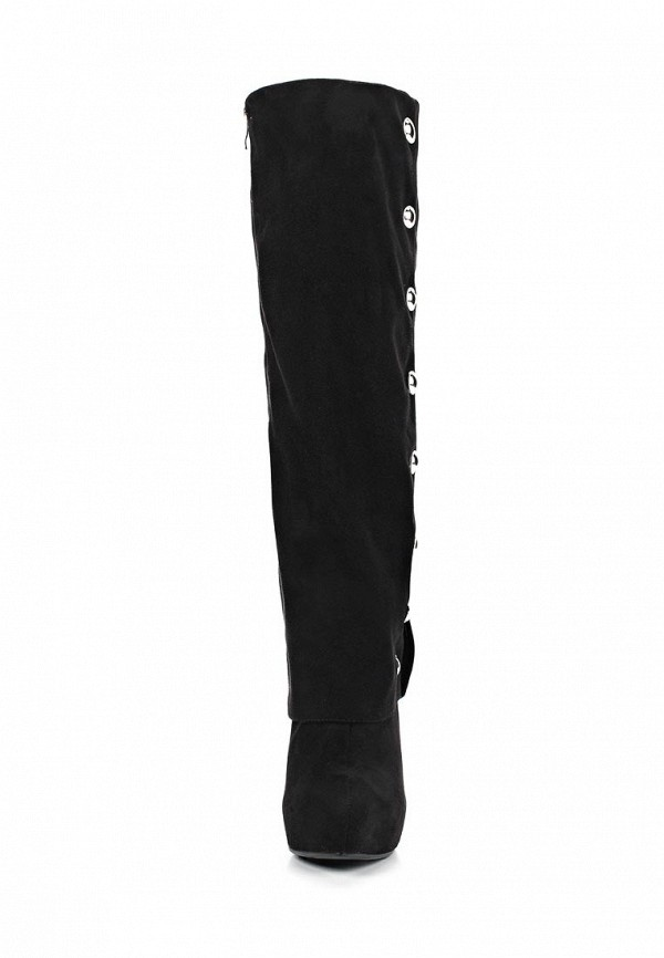 фото Женские ботфорты на платформе Lamania LA002AWBMP56, черные/шпилька