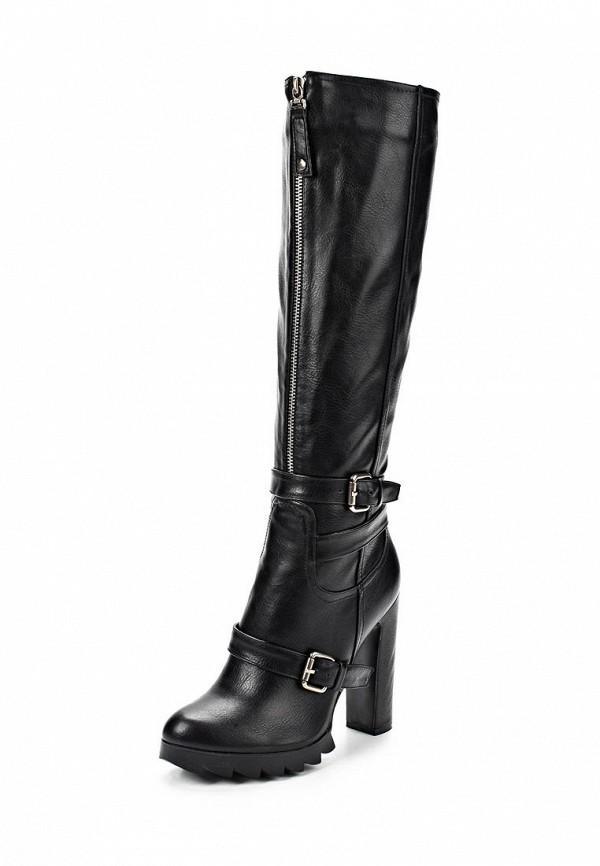 фото Сапоги на платформе и каблуке Lamania LA002AWBMP79, черные (кожа)