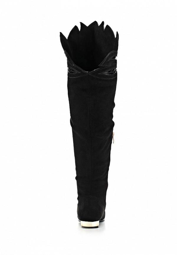 фото Сапоги женские высокие Lamania LA002AWBOK48, черные замшевые