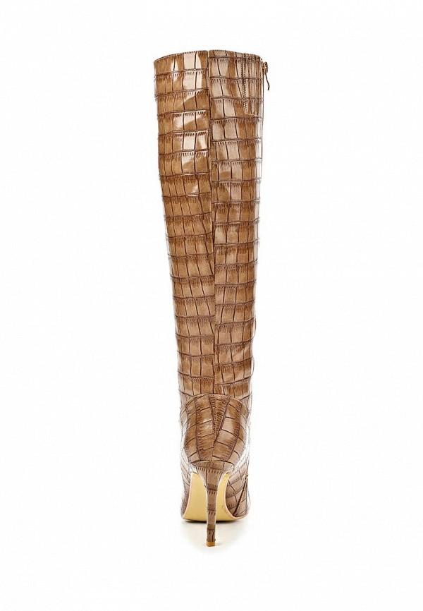 фото Сапоги на шпильке Lamania LA002AWBOK64, коричневые под рептилию