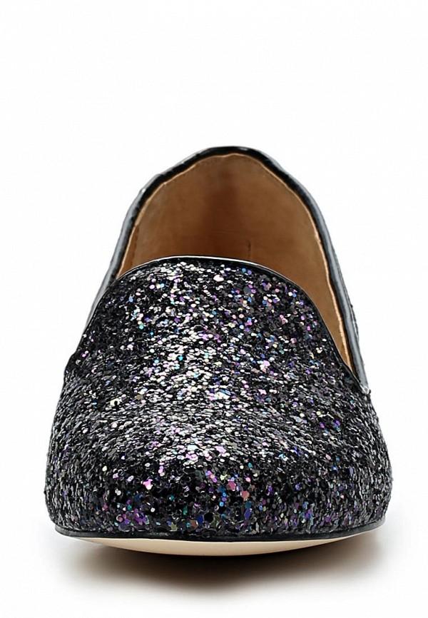 фото Лоферы женские на каблуке LA STRADA LA018AWBEX68, черные/мультицвет