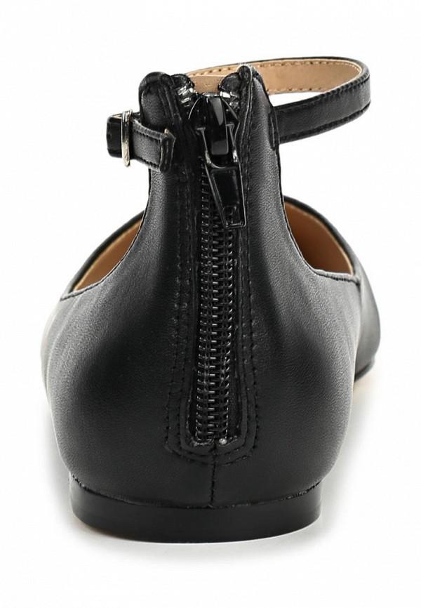 фото Балетки с острым носом LA STRADA LA018AWBEY53, черные с ремешком (кожа)
