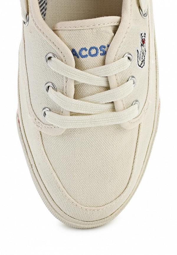 фото Топсайдеры женские Lacoste LA038AWANJ04, бежевые на шнурках