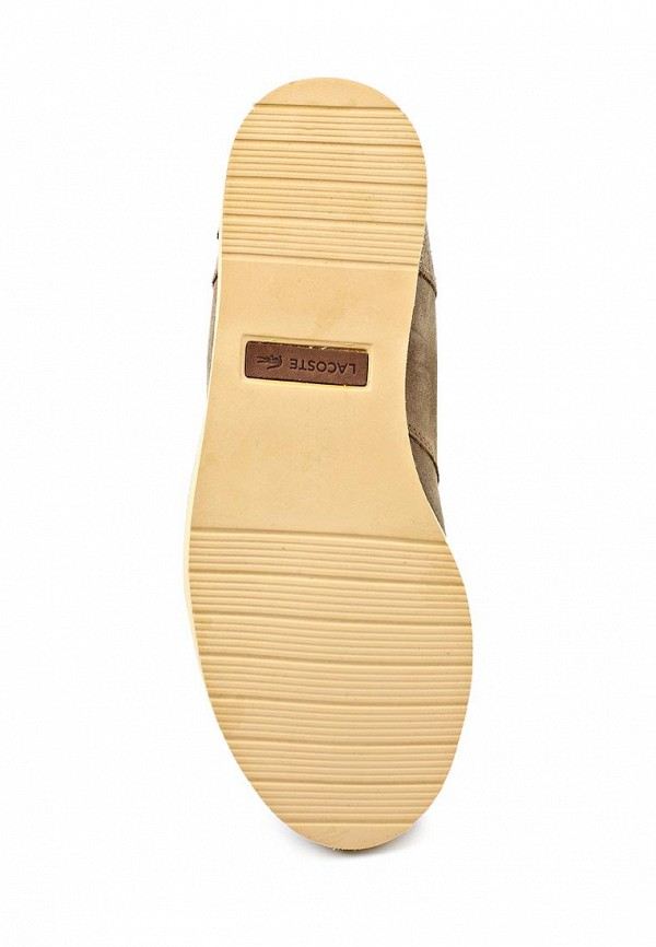 фото Женские полусапожки без каблука Lacoste LA038AWIU290, бежевые на шнуровке