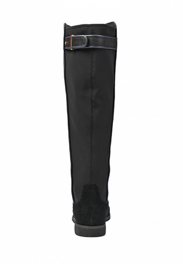 фото Сапоги женские на плоской подошве Lacoste LA038AWIU300, черные (замша)