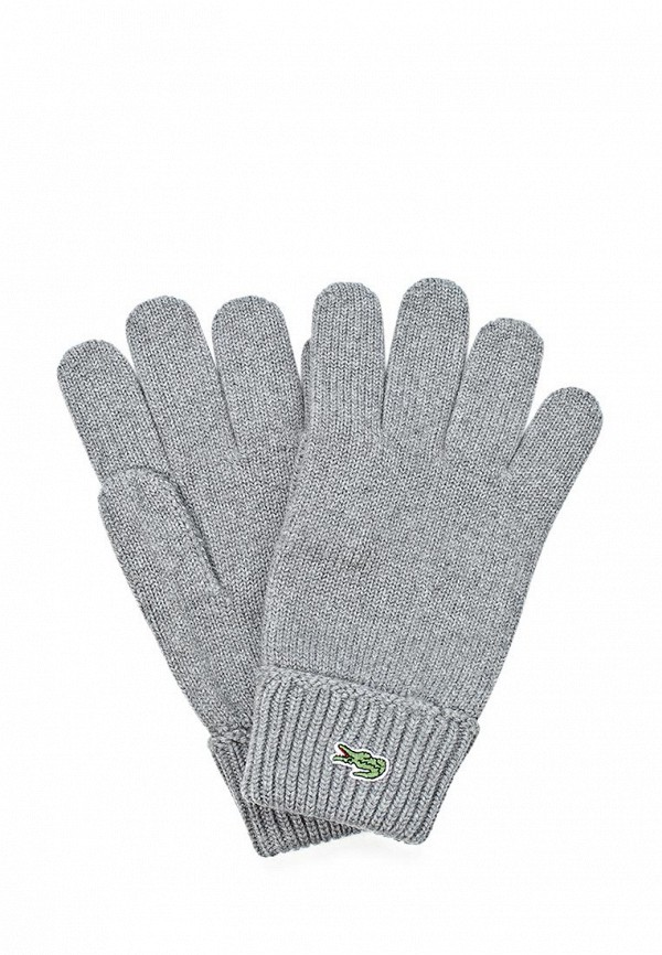 Перчатки Lacoste LA038DMKW802. Цвет: серый