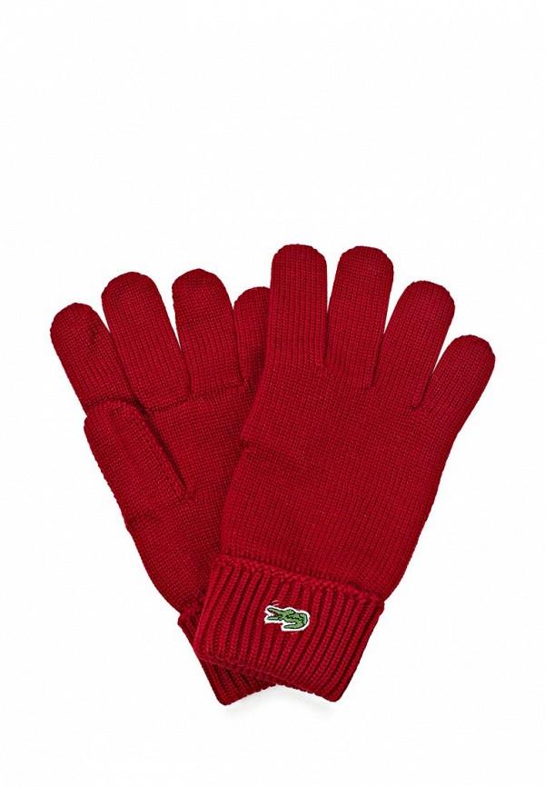 Перчатки Lacoste LA038DMKW803. Цвет: красный