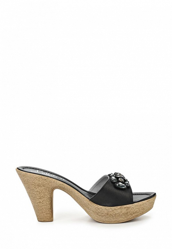 фото Сабо женские на каблуке Lalu LA676AWAZE02, черные/платформа