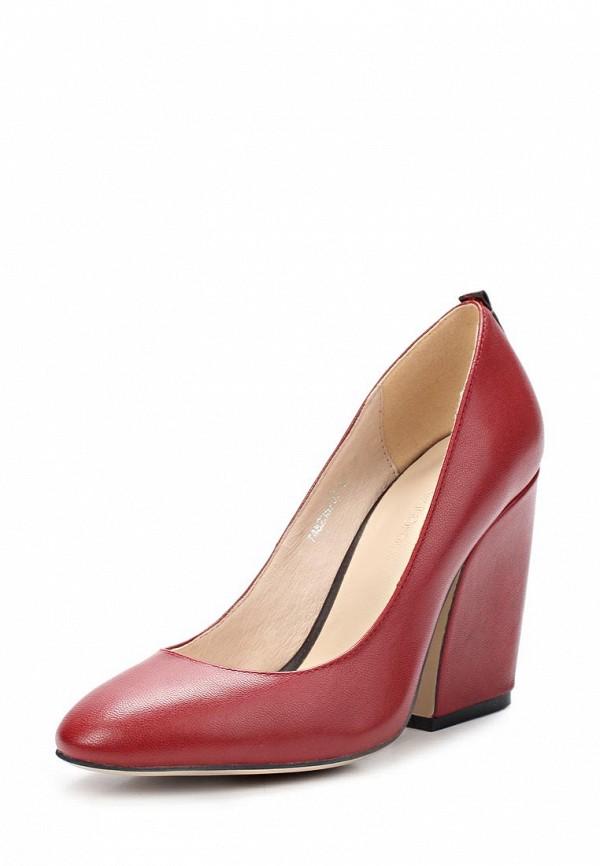 фото Туфли на толстом каблуке Laura Valorosa LA948AWCOV65, красные кожаные