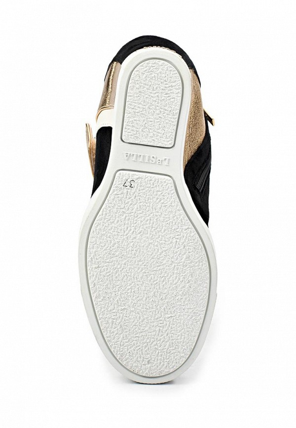 фото Кеды женские Le Silla LE682AWAEO81, черно-белые с золотым