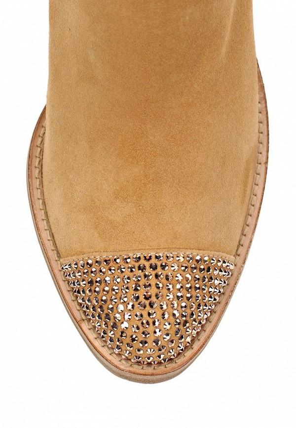фото Ботильоны на толстом каблуке Le Silla LE682AWAEO82, нежно-коричневые