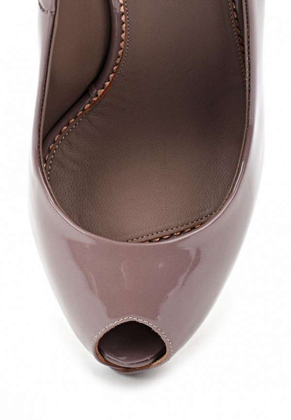 фото Туфли лаковые на платформе Le Silla LE682AWAEO98, коричневые/каблук