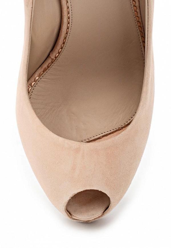 фото Туфли на платформе с открытым носом Le Silla LE682AWAEO99, бежевые/шпилька