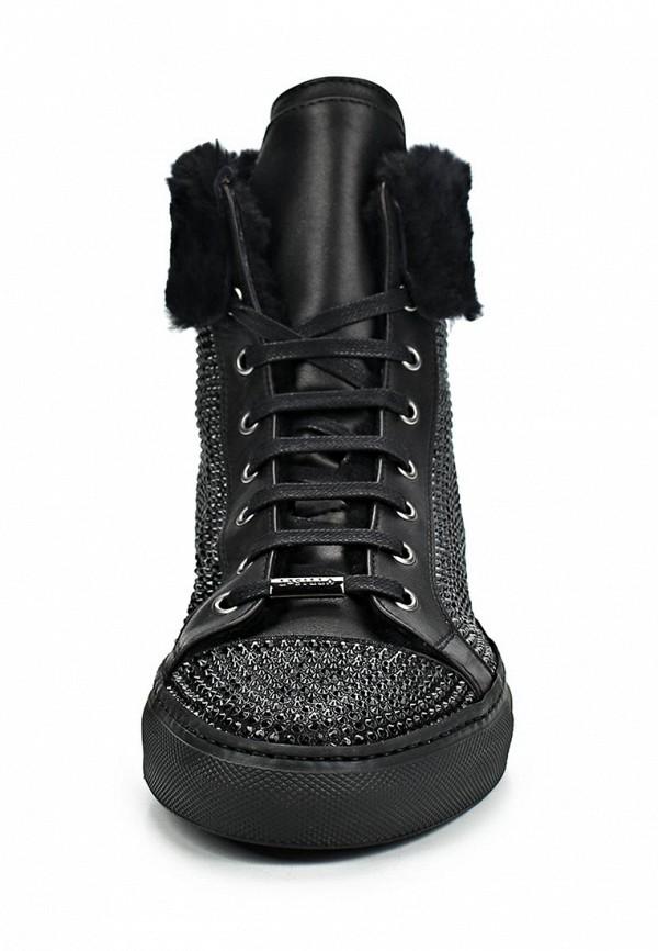 фото Кеды женские кожаные Le Silla LE682AWBVK95, черные/утепленные