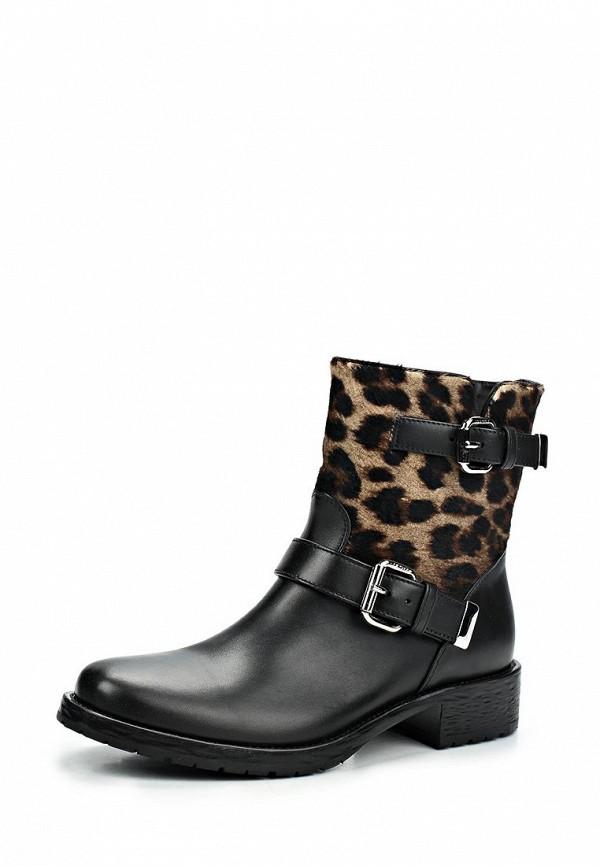 фото Женские полусапожки на каблуке Le Silla LE682AWBVK99, черные/леопардовые